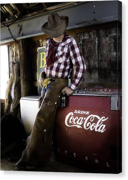Just Another Coca-cola Cowboy 2 Canvas Print