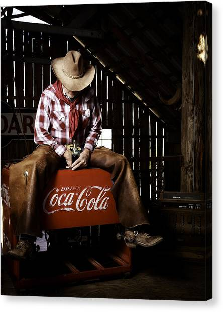 Just Another Coca-cola Cowboy 3 Canvas Print