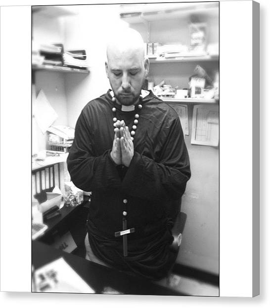 Priests Canvas Print - Just Another Day At Work.... #priest by Marcus Friedhofer