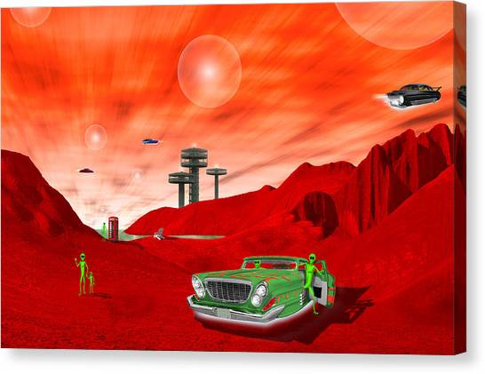 Imaginative Canvas Print - Just Another Day On The Red Planet 2 by Mike McGlothlen