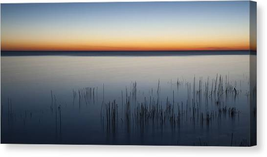 Lake Michigan Canvas Print - Just Before Dawn by Scott Norris