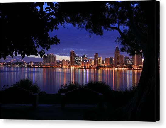 Just Before Sunrise San Diego Canvas Print