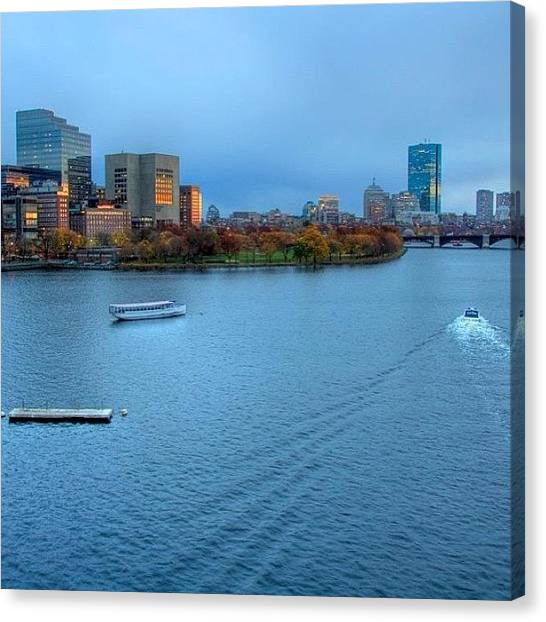 Massachusetts Canvas Print - Just Before The Blue Hour....boston Ma by Joann Vitali