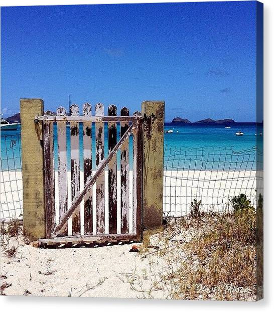 White Sand Canvas Print - Open The Gate To Paradise  by Daniel Mark
