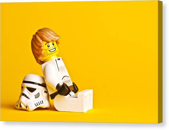 Stormtrooper Canvas Print - Just Chillin by Samuel Whitton