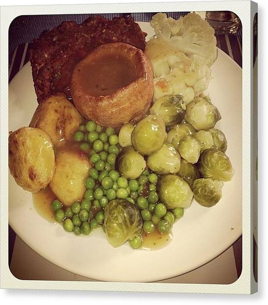 Roast Canvas Print - Just Eaten This Enormous #vegetarian by Richard Tanswell