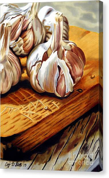 Just Garlic Canvas Print