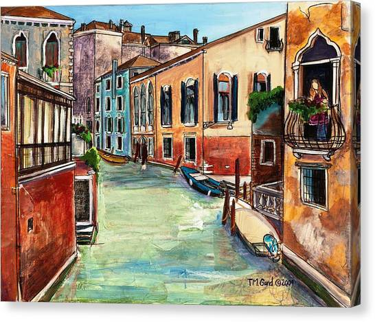 Canvas Print featuring the painting Just In The Neighborhood by TM Gand