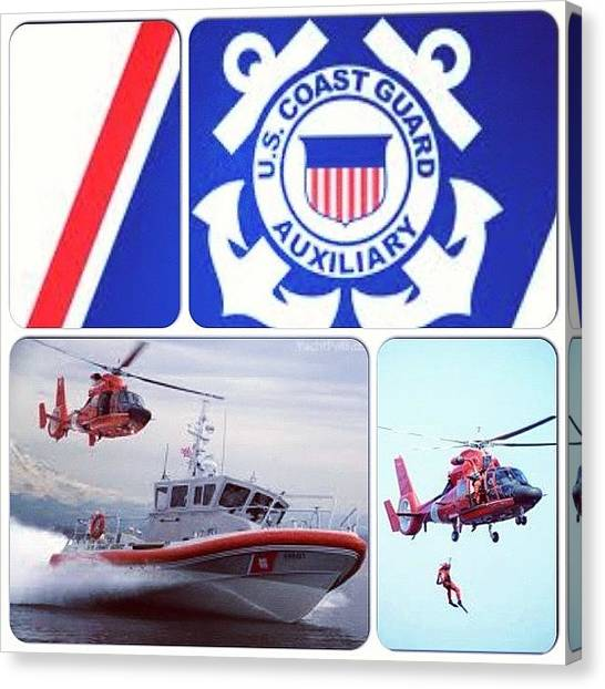 Helicopters Canvas Print - Just Joined <3 #coastguard #auxiliary by Ashley Balconis