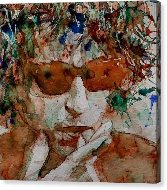 Bob Dylan Canvas Print - Just Like A Woman by Paul Lovering