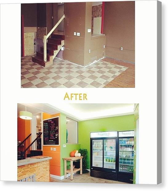 Smoothie Canvas Print - Just One Look At How We Transformed Our by Squeezejuicery Mansour