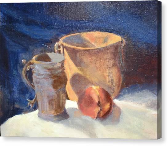 Just Peachy Canvas Print by Bryan Alexander