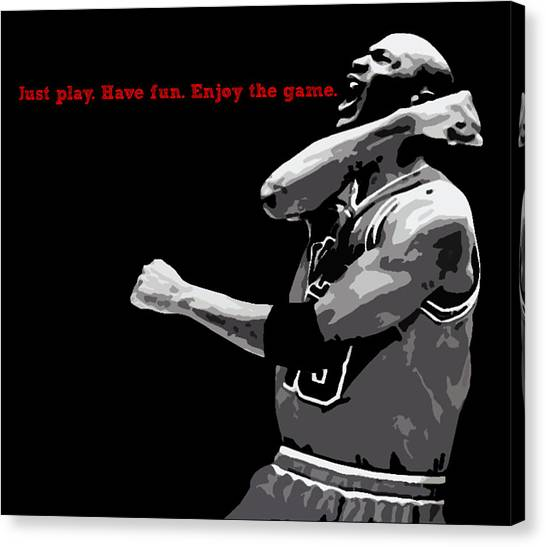Chicago Bulls Canvas Print - Just Play by Mike Maher