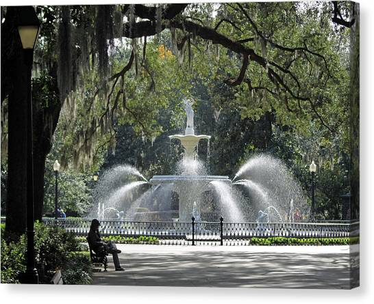 Just Relaxing In Savannah Canvas Print