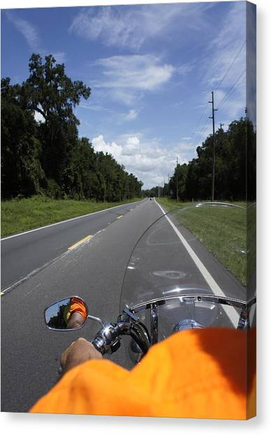Just Ride Canvas Print