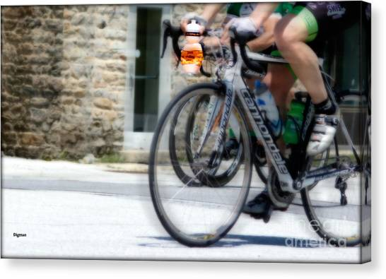 Just Riding Along Canvas Print by Steven Digman