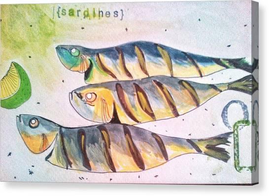 Just Sardines Canvas Print