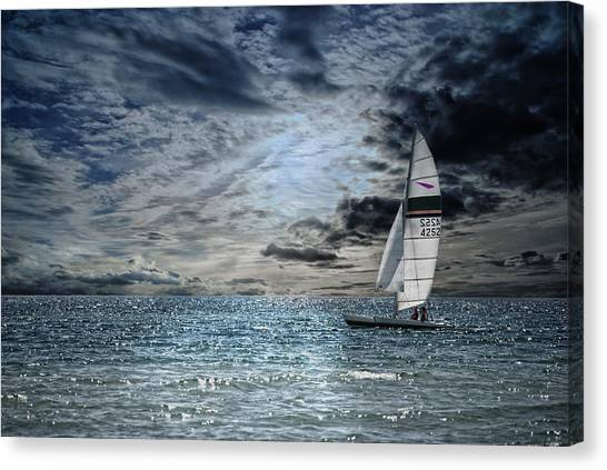 Catamarans Canvas Print - Just The Two Of Us by Joachim G Pinkawa
