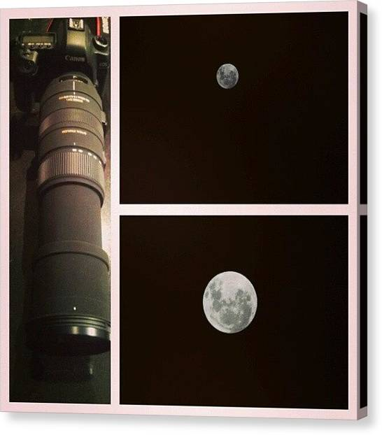Satellite Canvas Print - Just Took This Shots Of The Moon With by Victoria Vics