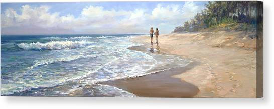 Coconut Canvas Print - Just We Two by Laurie Snow Hein