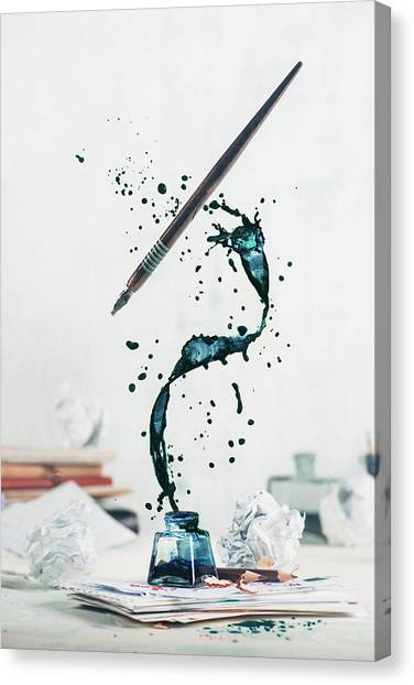 Ink Canvas Print - Just Write by Dina Belenko