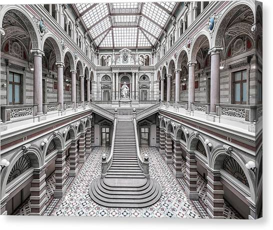Palace Canvas Print - Justizpalast, Vienna. by Massimo Cuomo