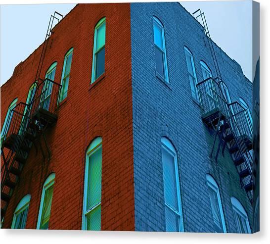 Juxtaposition - Old Building Canvas Print