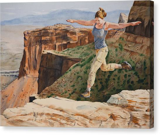 Jynn's Leap Canvas Print