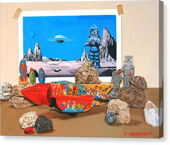 Forbidden Planet Canvas Print - K. Henderson Celebrates National Science Fiction Day by K Henderson