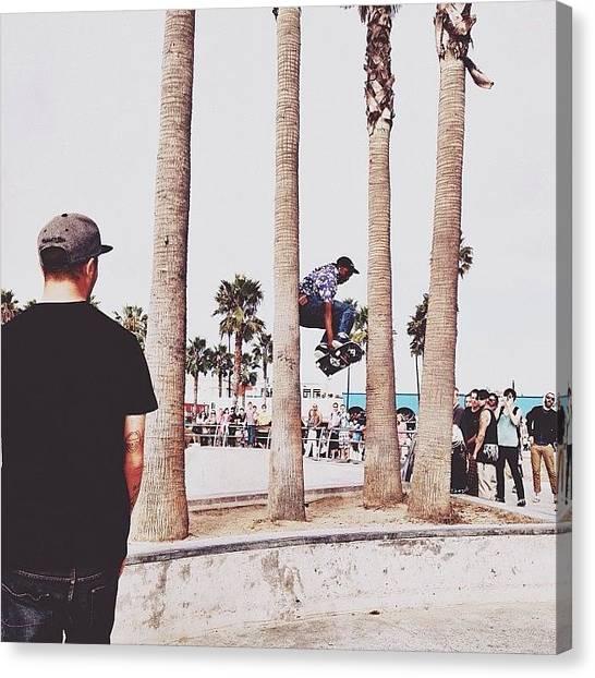 Venice Beach Canvas Print - K I C K P U S H by Guadalupe Serrano