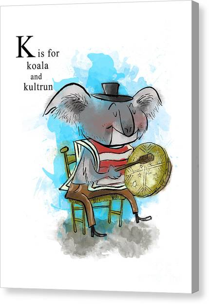 Koala Canvas Print - K Is For Koala by Sean Hagan