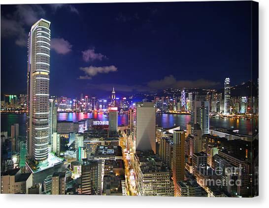 Hongkong Canvas Print - K11 In Tsim Sha Tsui In Hong Kong At Night by Lars Ruecker