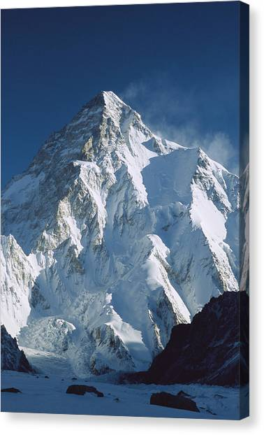 Mountain Ranges Canvas Print - K2 At Dawn Pakistan by Colin Monteath