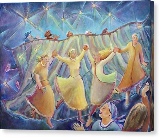 Kabbalat Shabbat 3 Canvas Print by Chana Helen Rosenberg