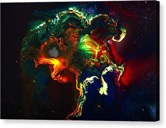 Kaboom - Bright Colorful Abstract Art By Kredart Canvas Print