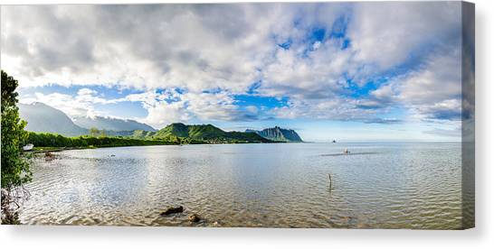 Kahaluu Fish Pond Panorama Canvas Print