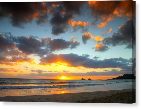 Kailua Beach Sunrise Canvas Print