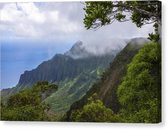 Jurassic Park Canvas Print - Kalalau Valley 5 - Kauai Hawaii by Brian Harig