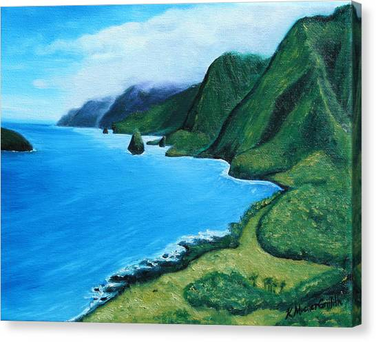 Kalaupapa Cliffs Canvas Print - Kalaupapa Peninsula by Kristine Mueller Griffith