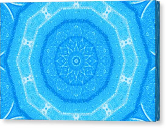 Kaleidoscope Blues Canvas Print by Paulette Maffucci