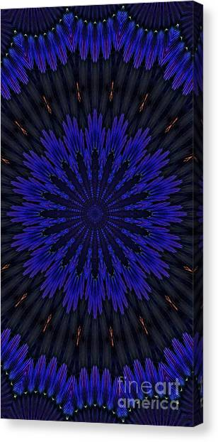 Kaleidoscope Feathers Two Canvas Print