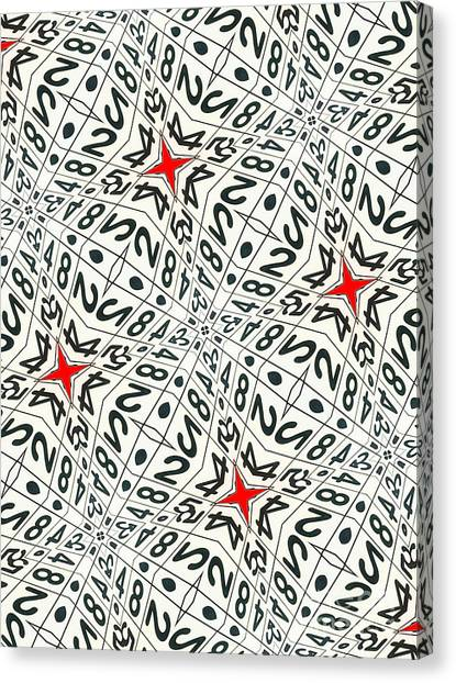 Carnegie Mellon University Canvas Print - Kaleidoscope Random Numbers by Amy Cicconi