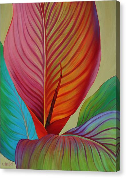 Canvas Print featuring the painting Kaleidoscope by Sandi Whetzel