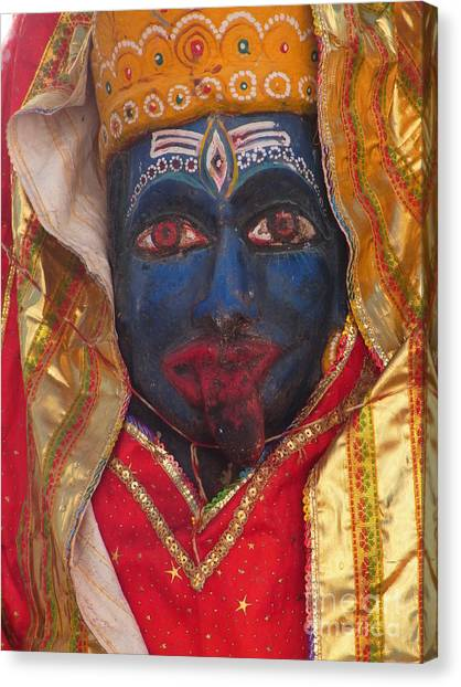 Kali Maa - Glance Of Compassion Canvas Print