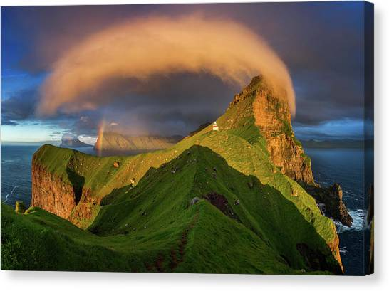 Rainbow Canvas Print - Kallur Sunset by Wojciech Kruczynski