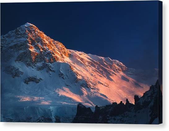 Kangchenjunga Canvas Print - Kambachen Peak by Anton Jankovoy