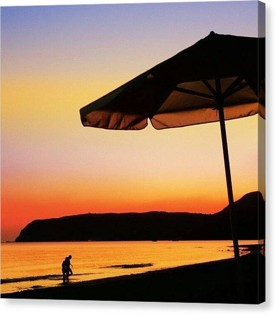 Greece Canvas Print - Kaminia Beach by Emanuela Carratoni