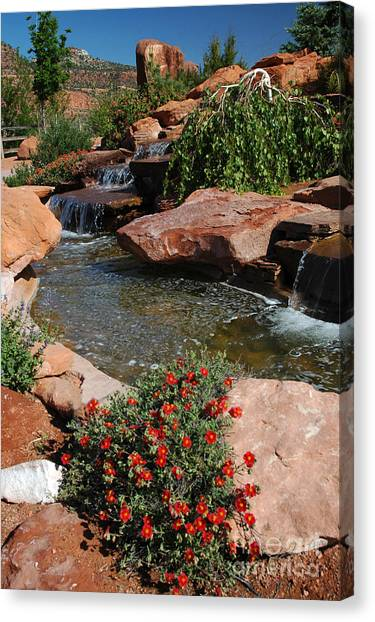 217p Kanab Ut Water Feature Canvas Print