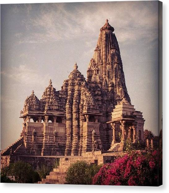 Judaism Canvas Print - Kandariya Mahadeva Temple by Hitendra SINKAR