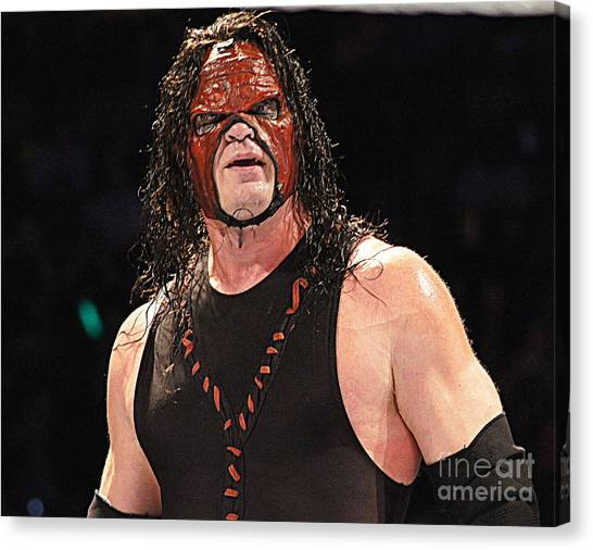 Undertaker Canvas Print - Kane by Paul Wilford